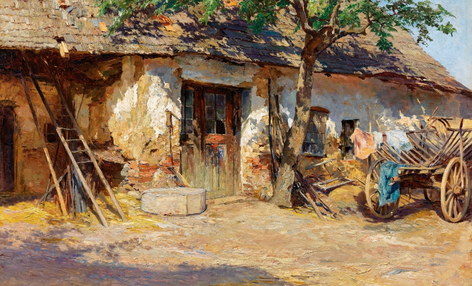 OLGA WISINGER-FLORIAN, Forge near Bisamberg, 1894 © Private collection Photo: Auktionshaus im Kinsky, Vienna