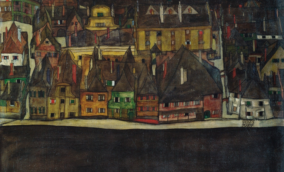 EGON SCHIELE, The Small Town III, 1913 © Leopold Museum, Vienna Photo: Leopold Museum, Vienna/Manfred Thumberger