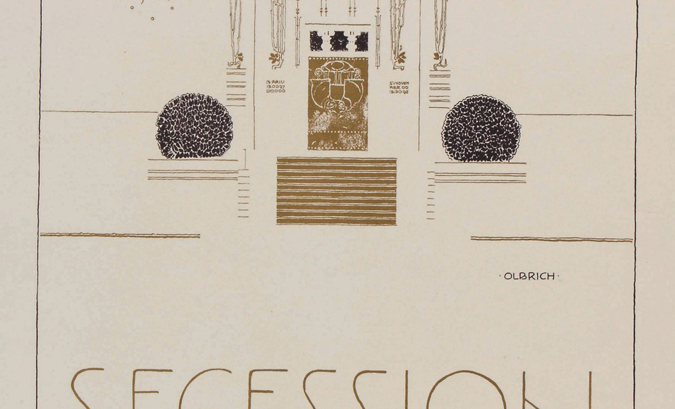 Joseph Maria Olbrich, Poster for the 2nd exhibition of the Vienna Secession Building © Hessisches Landesmuseum Darmstadt